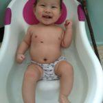 赤ちゃんの便秘の解消方法~腰湯~